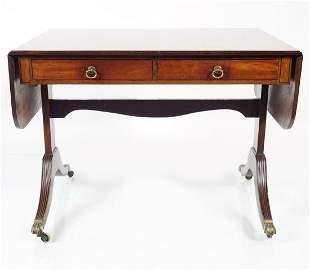 19TH-CENTURY MAHOGANY SOFA TABLE
