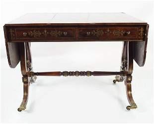 REGENCY PERIOD ROSEWOOD SOFA TABLE