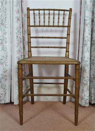 SET OF 3 19TH-CENTURY FRENCH GILT CHAIRS