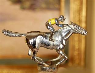 LOUIS LEJEUNE GALLOPING RACEHORSE CAR MASCOT