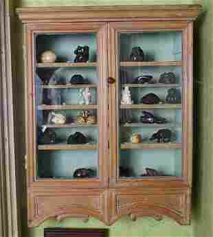 LATE 18TH-CENTURY HANGING COLLECTOR'S CABINET