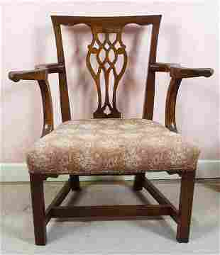 GEORGE III MAHOGANY DESK CHAIR