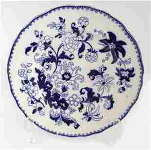 19TH-CENTURY BLUE AND WHITE PLATE