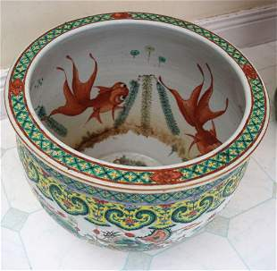 EARLY 20TH-CENTURY CHINESE POLYCHROME JARDINIERE