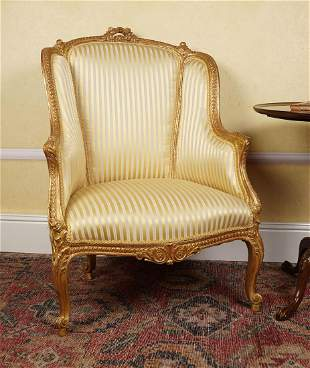 PAIR OF 19TH-CENTURY CARVED GILTWOOD CHAIRS