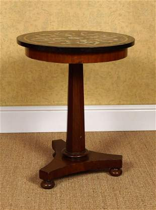 19TH-CENTURY GRAND TOUR SPECIMEN MARBLE TABLE