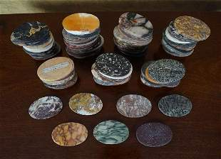 COLLECTION OF GRAND TOUR MARBLE DISCS