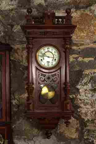 VICTORIAN VIENNA WALL CLOCK