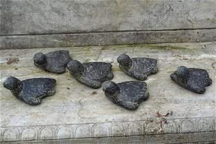 GROUP OF 6 COMPOSITE TORTOISES