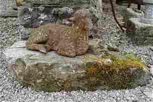 19TH-CENTURY CAST IRON GARDEN SCULPTURE
