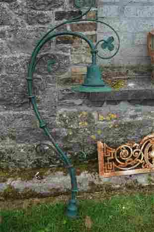 19TH-CENTURY CAST IRON STANDARD LAMP
