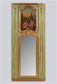 19TH-CENTURY PARCEL-GILT TRUMEAU MIRROR