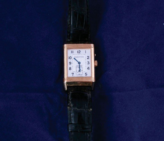 80: 18ct Jaeger Le Coultre reverso watch