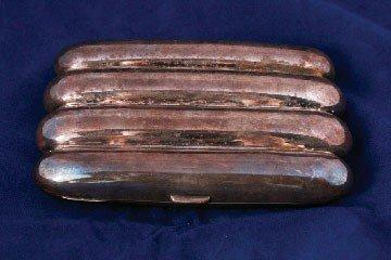 21: Silver cigar case
