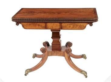 306: Pair Regency period mahogany and boxwood inlaid ca