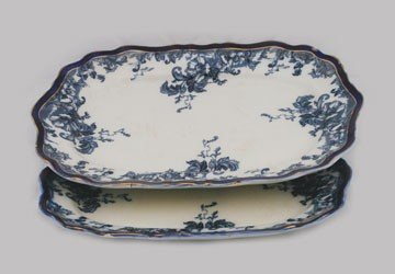 284: Two Wedgwood graduated blue and white meat platter
