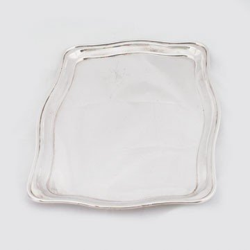 601: Edwardian silver plated drinks tray