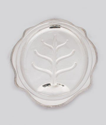 602: Large silver plated meat platter