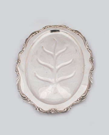 603: Large silver plated meat platter