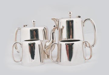 609: Four piece silver plated Edwardian tea and coffee