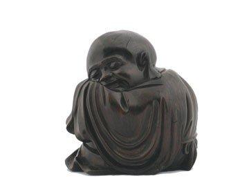 1254: Chinese carved hardwood Buddha