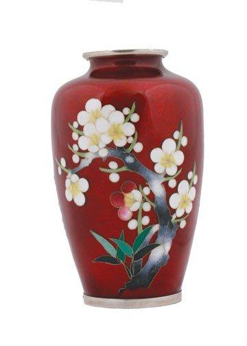 1255: Japanese cloisonne vase