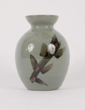 1262: Chinese grey-green glazed vase