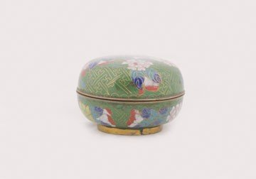 1272: Cloisonne bowl and cover