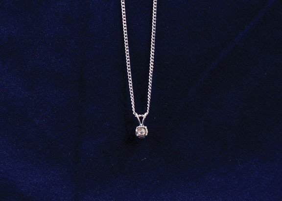 2: 18ct white gold pendant