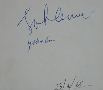 1085: John Lennon and Yoko Ono autographs