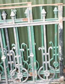 16: Four lenghts of Edwardian metal railings