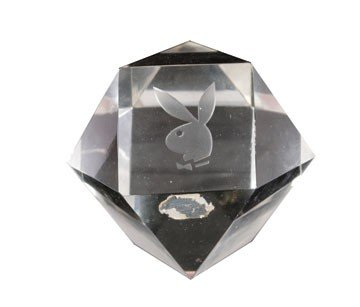 475: Playboy glass paperweight
