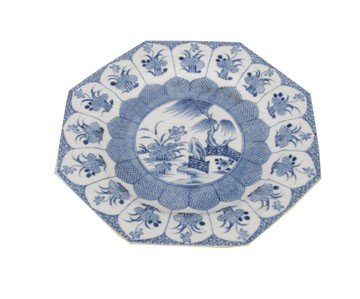 1252: Blue and white plate