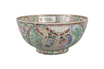 1267: Famille rose polychrome bowl