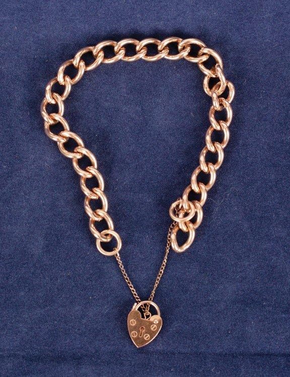 13: 9 ct. rose gold bracelet