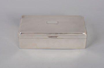 756: Silver cigar box