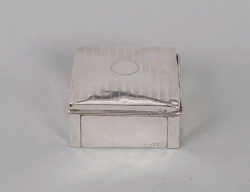 757: Silver cigar box