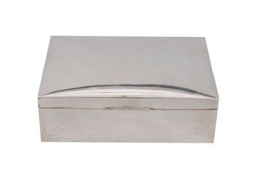 758: Large silver cigarette case