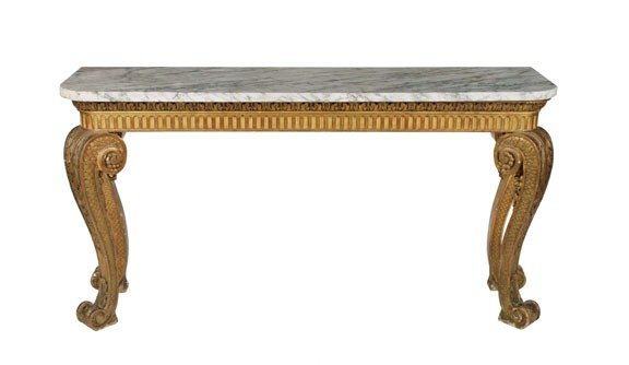 1393: Important Irish Regency period gilt console table