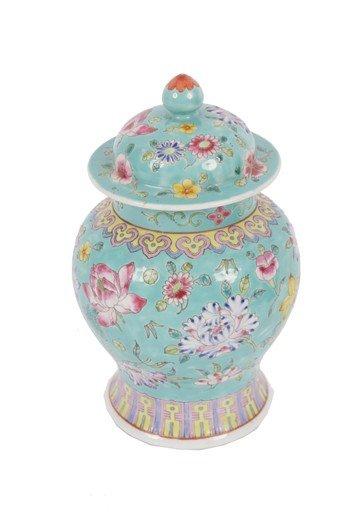 1509: Early twentieth-century polychrome jar and cover