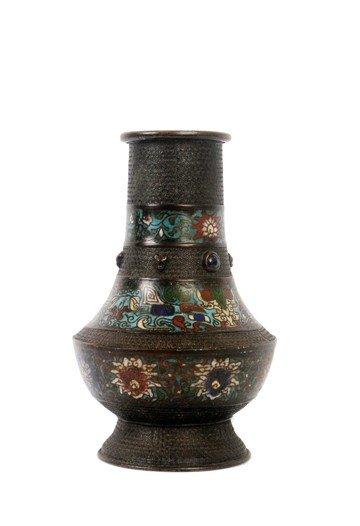 1512: Chinese cloisonné archaistic vase