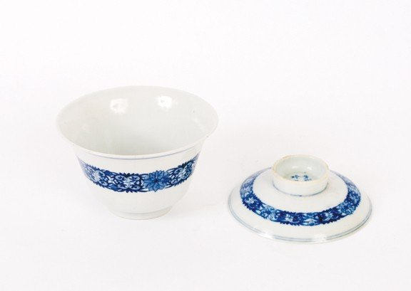 1517: Chinese blue and white bowl with cover