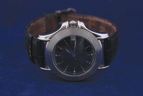14: Mauboussin gent's automatic chronometer steel watch