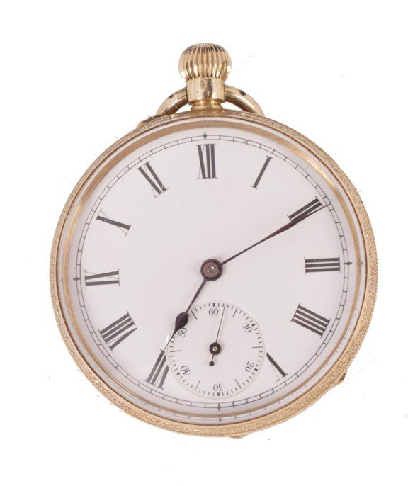 18: 18 ct. gold pocket watch