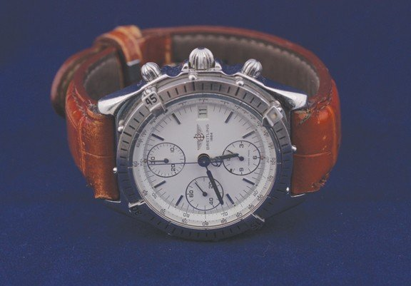 24: Breitling 1884 gent's chronograph steel watch