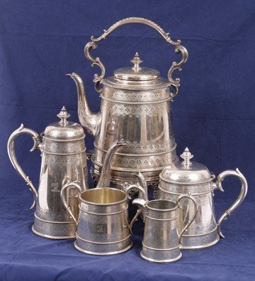 259: Important five piece Sheffield tea and coffee serv