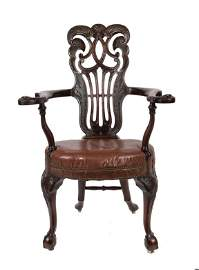 401: Late nineteenth-century Dublin Chippendale style a