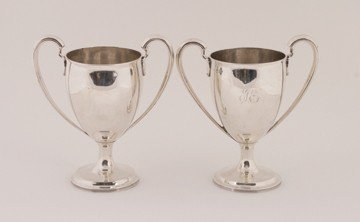 761: Dublin George III matched pair of cups