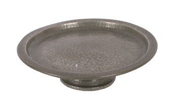 1004: Liberty Tudric pewter cake stand/plate