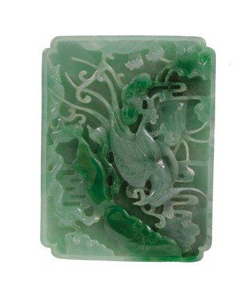 1518: Spinach jade panel
